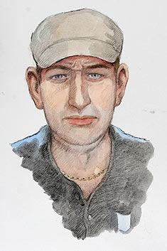 Denne fantomtegningen ble gjort etter overgrepet i Skjolden 14. juli. Foto: Tegning: Kripos/Harald Nygård