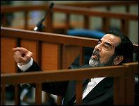 Saddams forsvarere gikk i protest