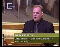 Sandberg vurderer sitt politiske liv