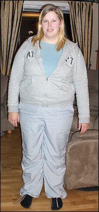 Slik så Vibeke ut da hun veide 107 kilo. Foto: Privat