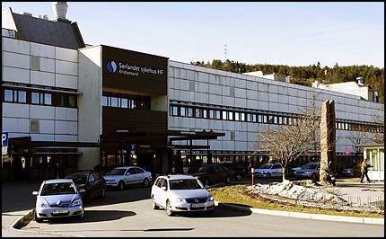 Her på Sørlandet sykehus Kristiansand lå Sven O. til behandling i lenger tid etter at han i fjor ble operert på Rikshospitalet for lungekreft. Foto: Scanpix.