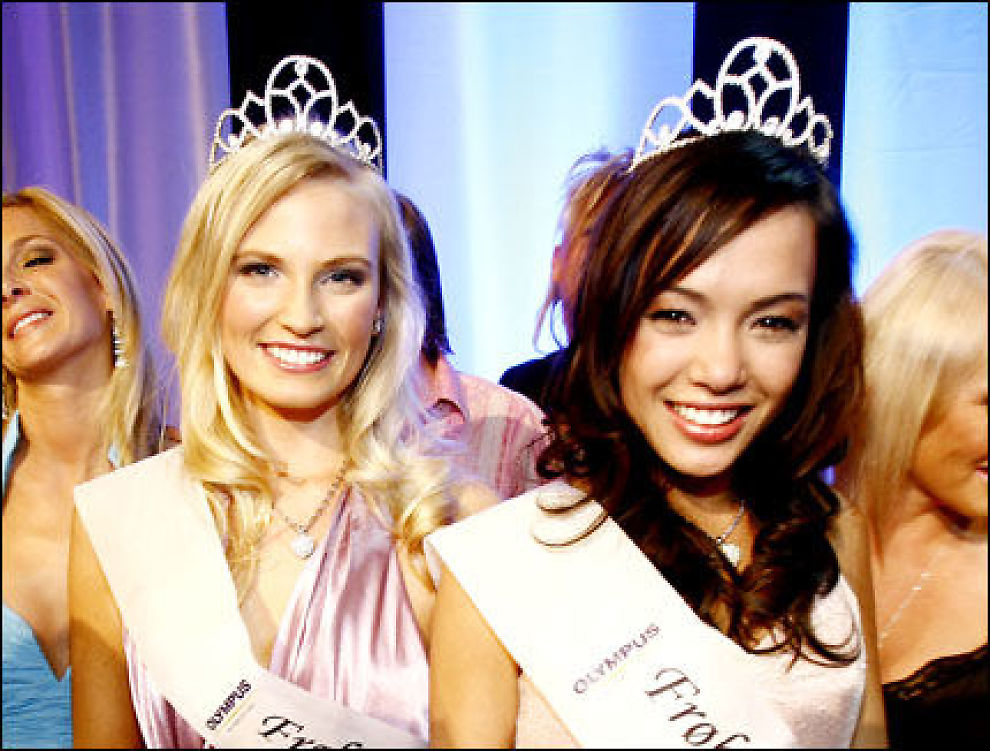 VAKREST: Lisa-Mari (t.v.) og Kirby Ann stakk av med seieren i årets Frøken Norge. Foto: Scanpix
