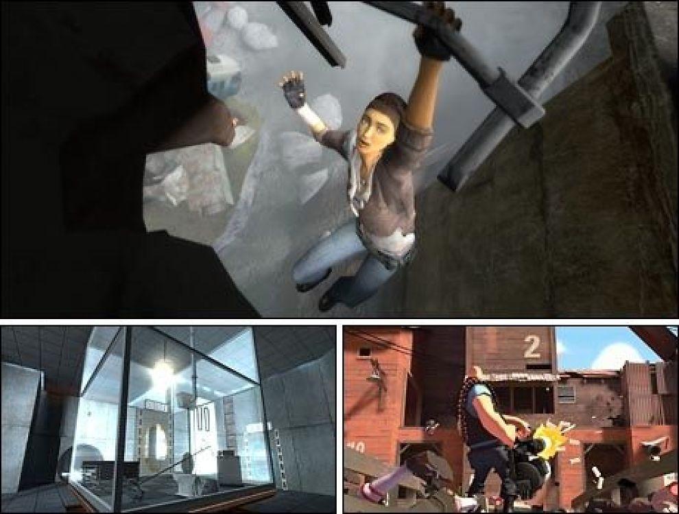 SPILLENES KINDER-EGG: Både Half-Life 2: Episode Two, Portal og Team Fortress 2 kommer til høsten i en og samme pakke. Foto: Valve