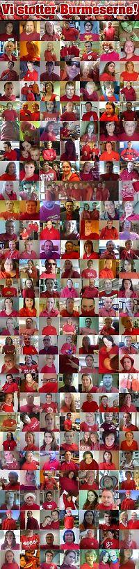 Massiv, rød støtte til burmeserne