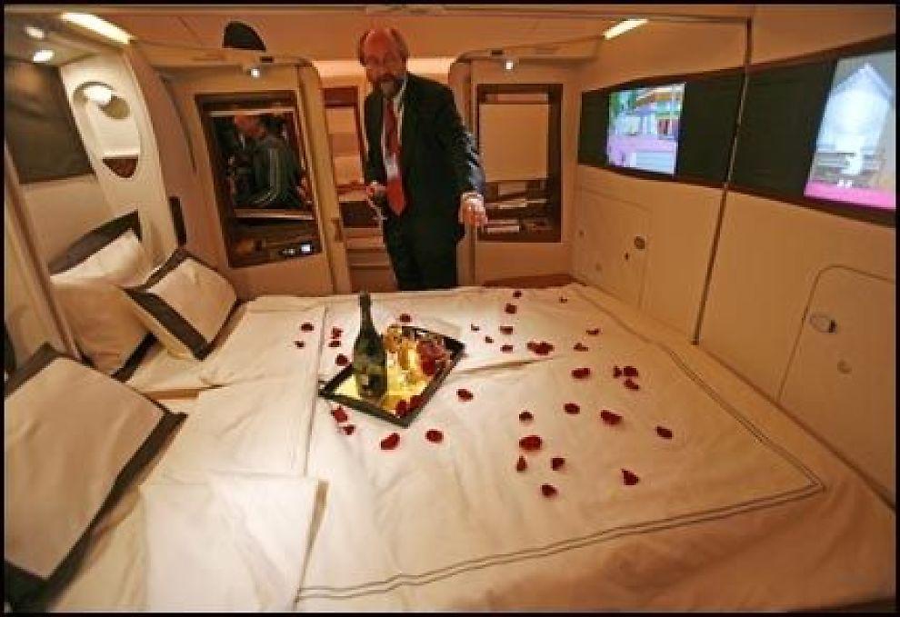 Sex i dobbeltseng forbudt på «superjumbo»   luftfart   vg