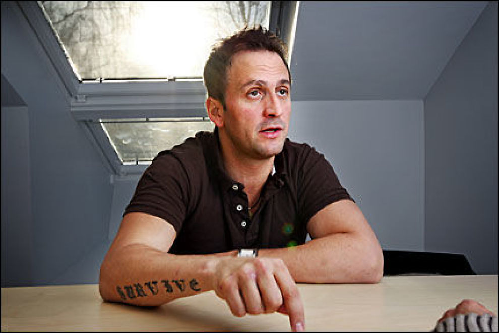 PÅ VEI TILBAKE: Anders Myrvold (32) er nettopp ute fra et syv uker langt rehabiliteringsopphold på grunn av sitt kokainbruk. Foto: Frode Hansen