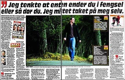 KORTENE PÅ BORDET: Tidligere NHL-proff Anders Myrvold snakker ut i dagens papir-VG. Foto: Faksimile: Dagens VG