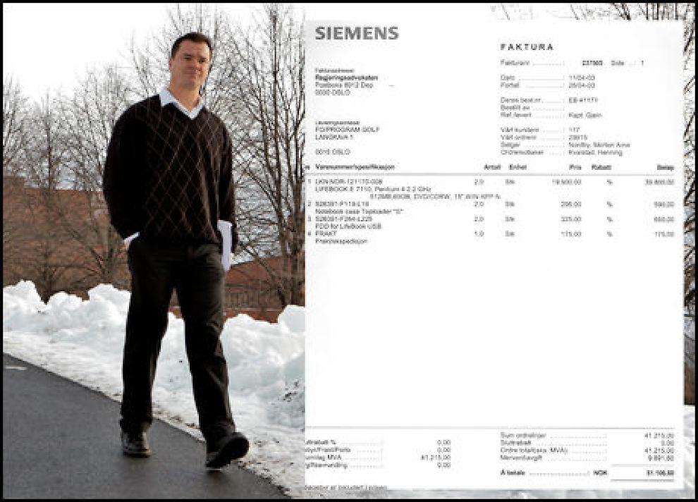 VARSLET: Siemens-varsleren Per-Yngve Monsen avslørte hvordan hans arbeidsgiver Siemens Business Services overfakturerte Forsvaret. I den første fakturaen var Regjeringsadvokaten fakturaadresse. Foto: Janne Møller-Hansen