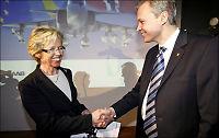 Her «frir» den svenske ministeren til Norge