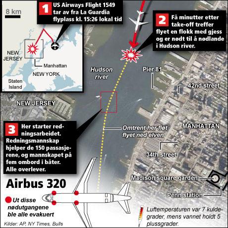 Slik skjedde flyulykken. Grafikk: Tom Byermoen