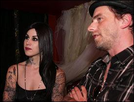 GODE VENNER: Kat Von D og norske Bjørn Opsahl har blitt gode venner etter «L.A. Ink»-innspillingen. Han ble bant annet invitert i 50-årslaget til kjæresten hennes, Nikki Sixx, fra Mötley Crüe. Foto: PRIVAT