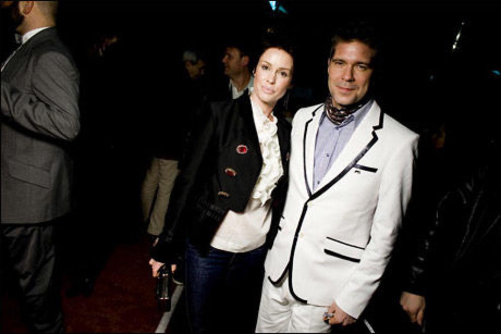 I NORGE: Søren Rasted var med sin kone Lene Nystrøm på Spellemannsfesten forrige helg. Foto: Scanpix