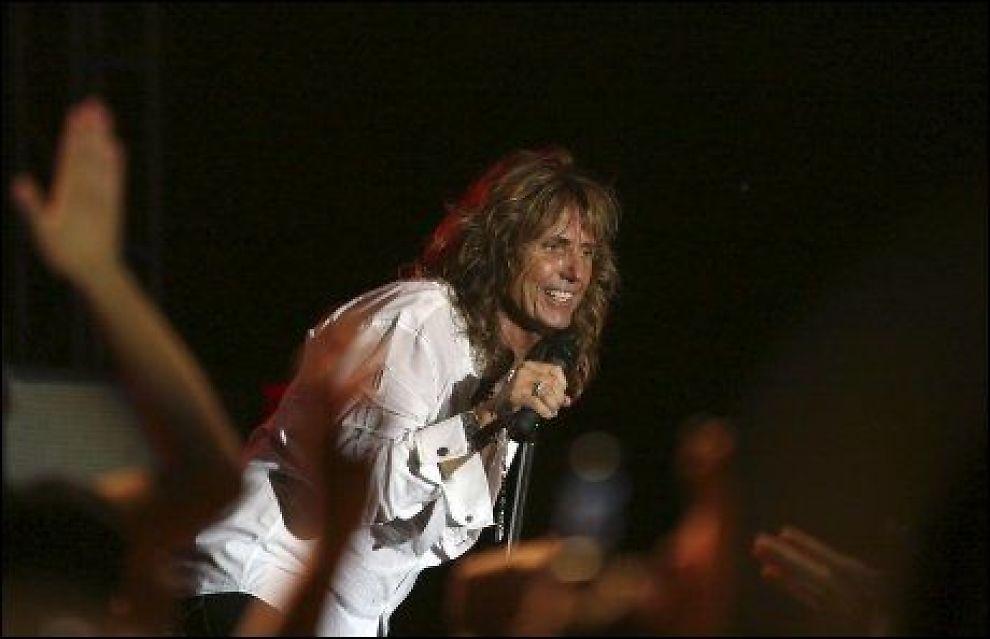 TAKKNEMLIG: David Coverdale er glad han fikk sjansen som vokalist i Deep Purple i 1973. Foto: AP