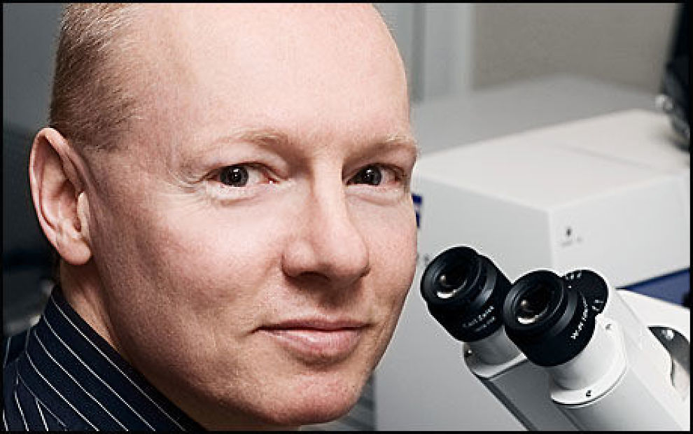 FORSKERKOMET: Professor Harald Stenmark har fått 19 millioner kroner til sin kreftforskning. Foto: Oslo universitetssykehus, Rikshospitalet