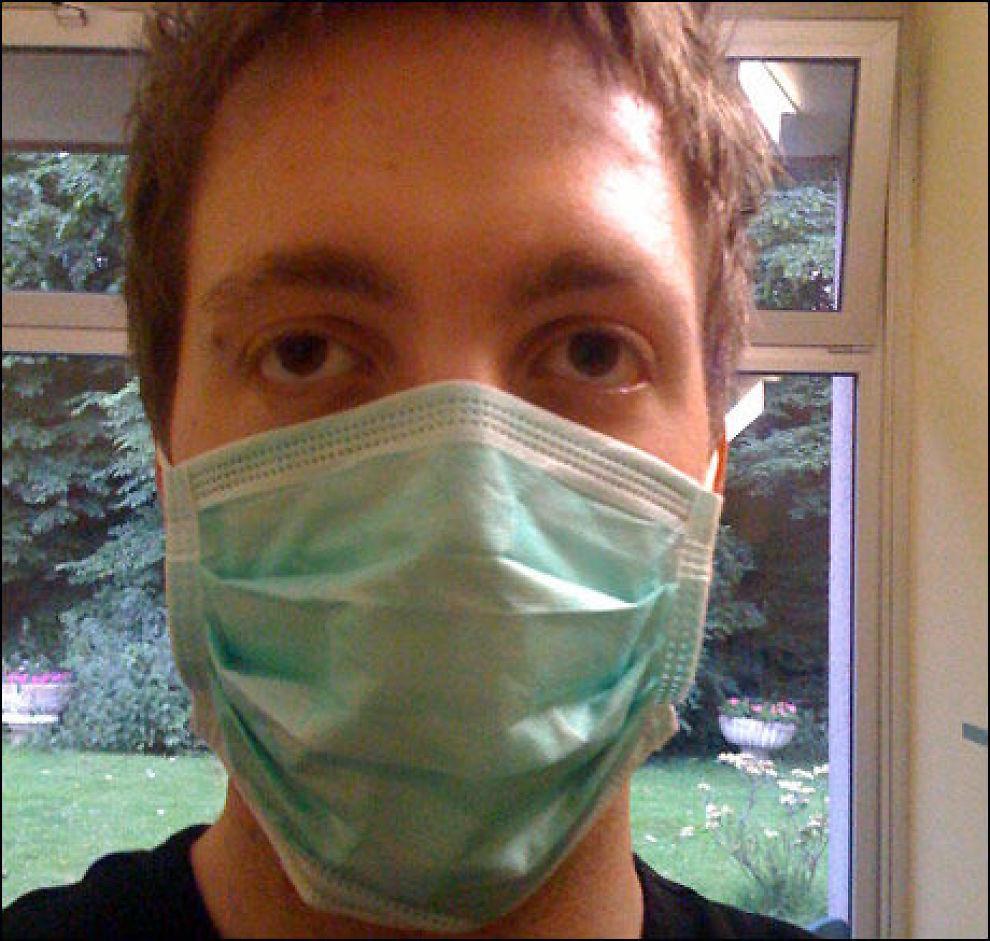 PÅ ISOLAT: Lars Andreas Aarøe sitter på isolat i Tyskland etter å ha fått påvist svineinfluensa. Foto: Privat