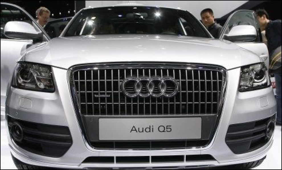 OVERHALING: SUV-kjempen Audi Q5 får en hybrid overhaling og skal ifølge flere kilder lanseres i 2011. Foto: Scanpix
