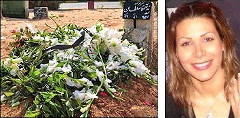 GRAVPLASS: Neda Agha Sultan (26) skal være gravlagt her. Foto: Privat/Twitter