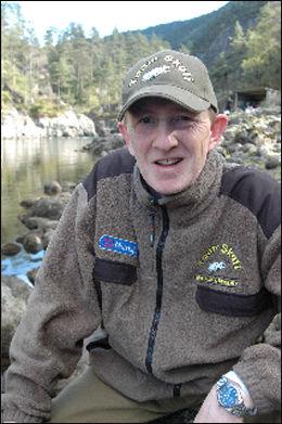FIKK IDÈEN: Agnar Berge fikk idèen om undervannskameraene i elven. Foto: Privat
