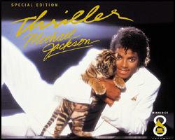 MEGA-SUKSESS: Dette er coveret til den nye versjonen av Thriller-albumet som kom ut i 2008. Michael Jackson tjener penger også etter sin død. Foto: Sony Music