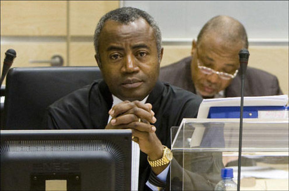 TILTALT EKS-PRESIDENT: Liberias tidligere president Charles Taylor på plass i rettslokalet i Spesialdomstolen i Sierra Leone. Han er tiltalt for krigsforbrytelser. Foto: AFP Foto: Foto: