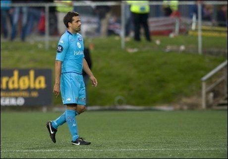 SKUFFA: Vålerengas spillende trener Martin Andresen var skuffet etter 3-0 tapet mot Godset. Foto: Scanpix