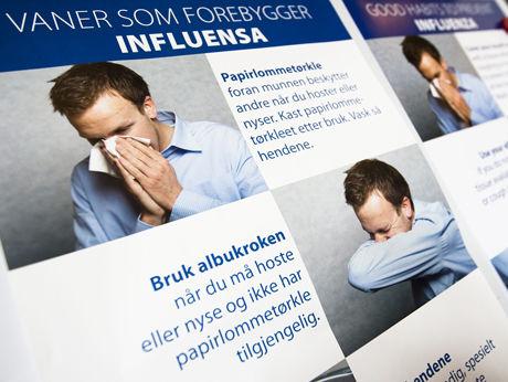 KAMPANJE: Folkehelseinstiuttet lanserer nå en stor opplysningskampanje om svineinfluensa. Foto: Scanpix