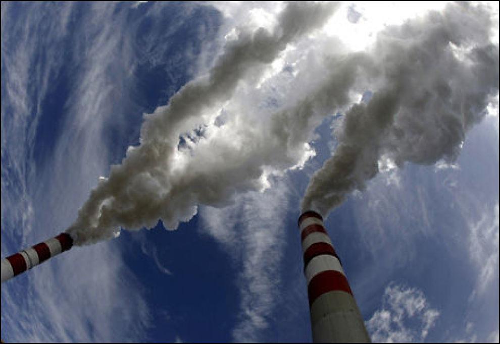 KLIMABOMBE: Mengden CO2 i atmosfæren utgjør en klimatrussel. Nå skal Norge samarbeide med tre andre land for å håndtere utslippene. Foto: REUTERS