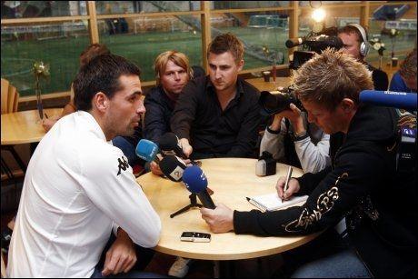 MEDIEVANT: Martin Andresen, her avbildet etter at Tor Ole Skullerud gikk på dagen onsdag. Foto: Scanpix
