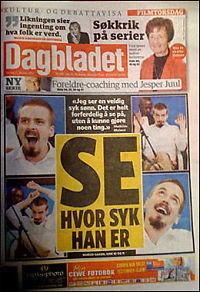 Dagbladet beklager Moland-forside