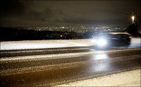 Snøfall skapte trafikkproblemer på Østlandet