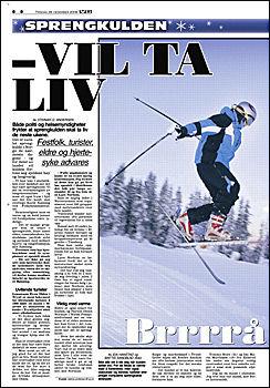 DAGENS VG: Les om gode kulderåd og Erling Kagges verste fryseopplevelse i dagens VG. Foto: Faksimile