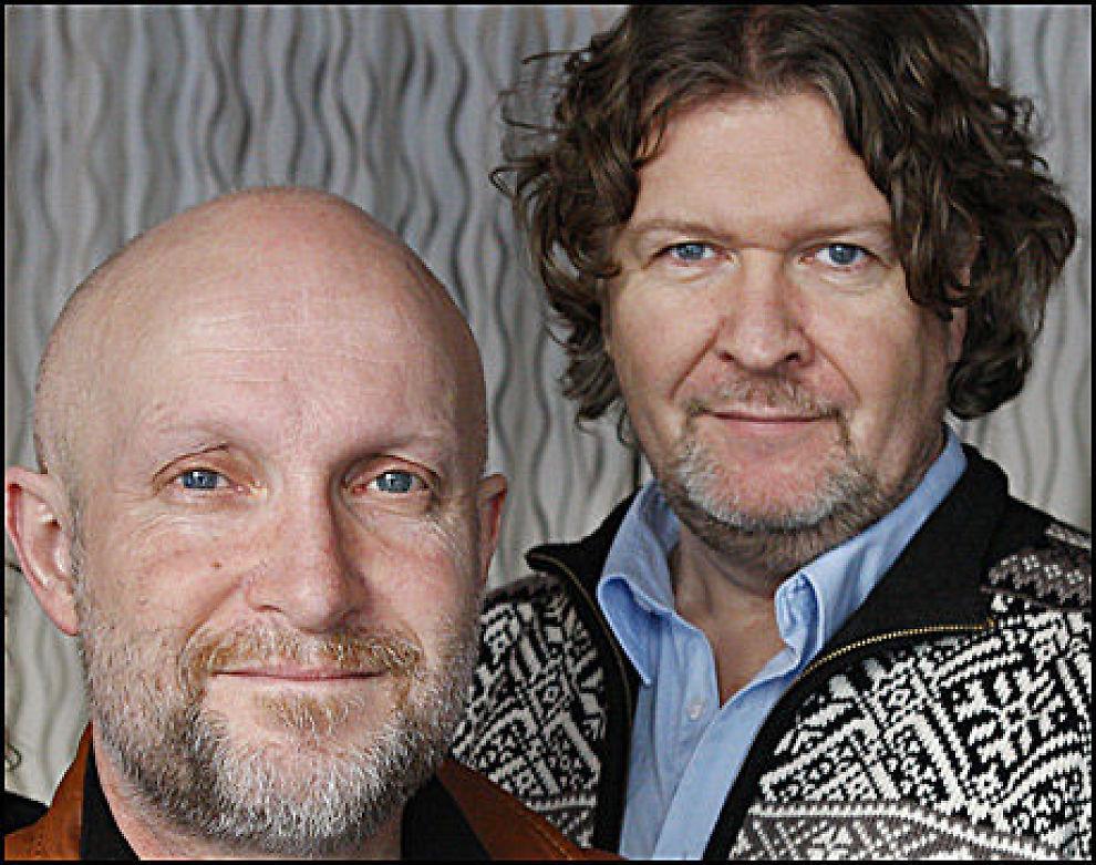 TV-KLARE: Forfatter Lars Saabye Christensen (t.v.) og regissør Per-Olav Sørensen. Foto: Anne Liv Ekroll/NRK