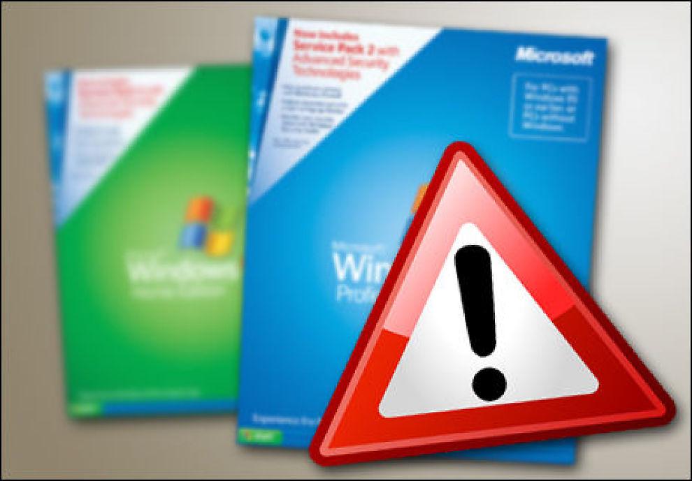 Windows xp oppdatering russisk