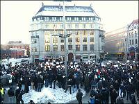 3000 i ulovlig Muhammed-demonstrasjon ved Oslo S