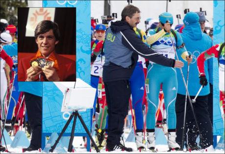 HOLDT IGJEN: Anna Carin Olofsson-Zide ble holdt igjen når hun skulle starte. Det synes tidligere OL-gullvinner Eirik Kvalfoss er synd. Foto: Scanpix