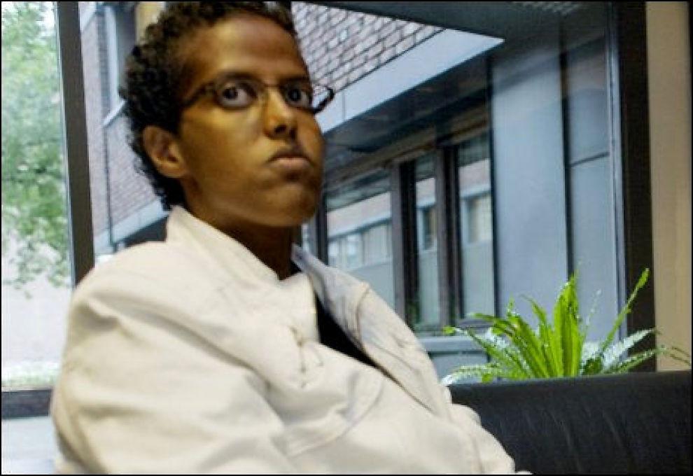 SKUFFET: Amal Aden, som har kritisert HRS i sterke ordelag, er skuffet over IMDis avgjørelse. Foto: SIMEN GRYTØYR