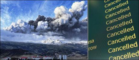 ASKETRØBBEL: Askeskyen som spys ut fra en vulkan på Island sørger for store problemer for flytrafikken. Foto: Scanpix/Reuters