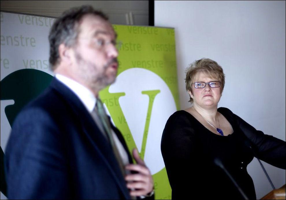 INGEN MOTKANDIDATER: Trine Skei Grande er valgt som Lars Sponheims etterfølger, og overtar dermed som partileder for Venstre. Foto: SCANPIX