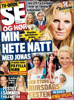 SE OG HØR: Tora Uppstrøm Berg (21) vekker oppsikt med sine påstander i denne ukens Se og Hør. Foto: Faksimile: Se og Hør