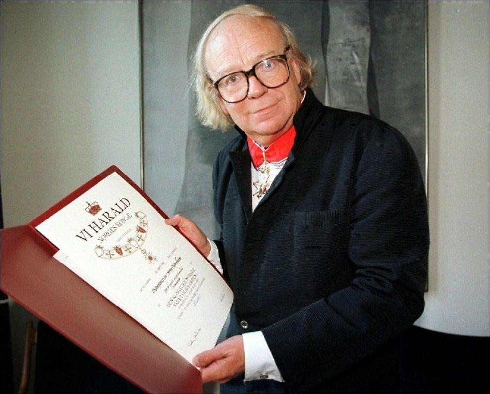 DØD: Komponisten Arne Nordheim mottok St Olavs Orden i 1997. Foto: Scanpix