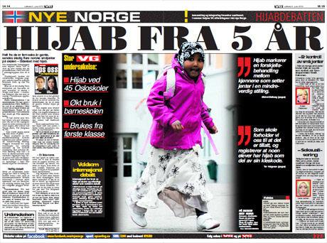Les mer om hijabdebatten i dagens papirutgave av VG! Foto: Faksimile: VG (05.06.2010)