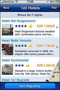 Reiseapplikasjoner til iPhone