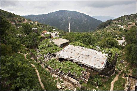 LANDSBY: Ikke lett at det er en landsby her, før du står midt oppi den. Bayir Kozagac ligger i Taurusfjellene. Foto: Gisle Oddstad