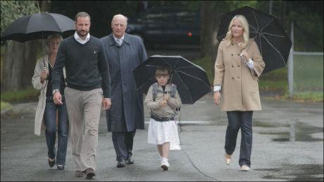 SPENT: Prinsesse Ingrid Alexandra hadde sin første skoledag på Jansløkka skole i Asker torsdag formiddag. Foto: SCANPIX