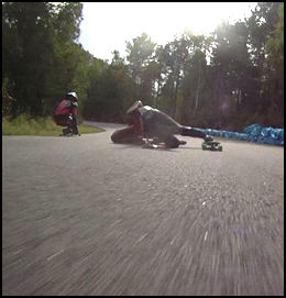 how to stop on a skateboard going downhill