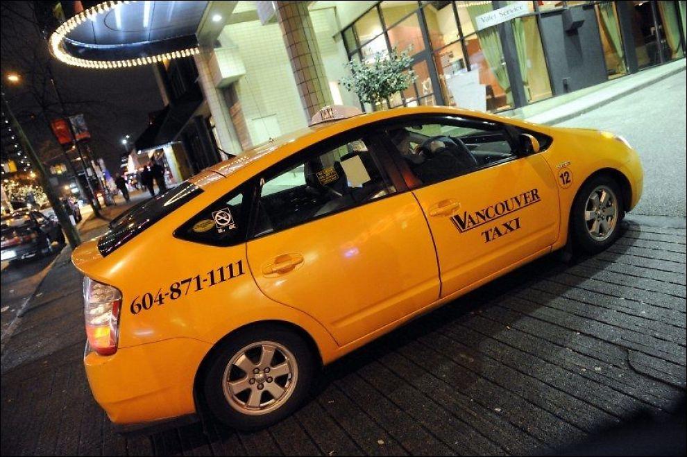 ØKER: Toyota Prius øker som drosjemodell i Norge. Her er en taxisøster i Vancouver i Canada. Foto: Scanpix