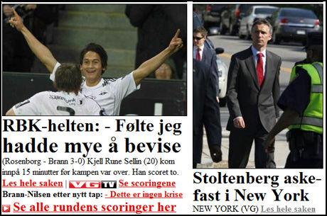 ASKEFAST: Slik så fronten til VG Nett ut klokken 08.15 torsdag 15. april. Faksimile: VG Nett