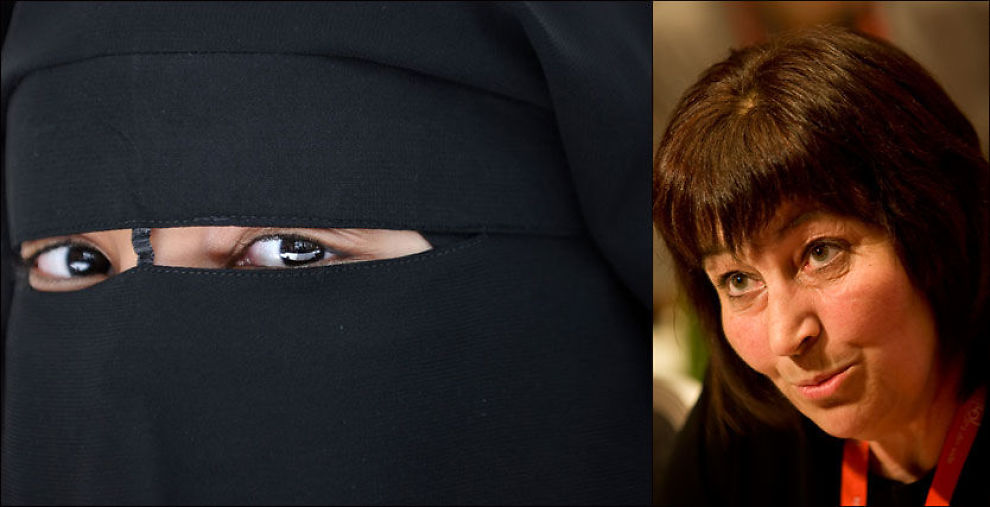 POSITIV: LO-nestleder Gerd Kristiansen (t.h) ønsker initiativet til niqab-treffet på Grønland i Oslo velkommen. Foto: AFP/Scanpix
