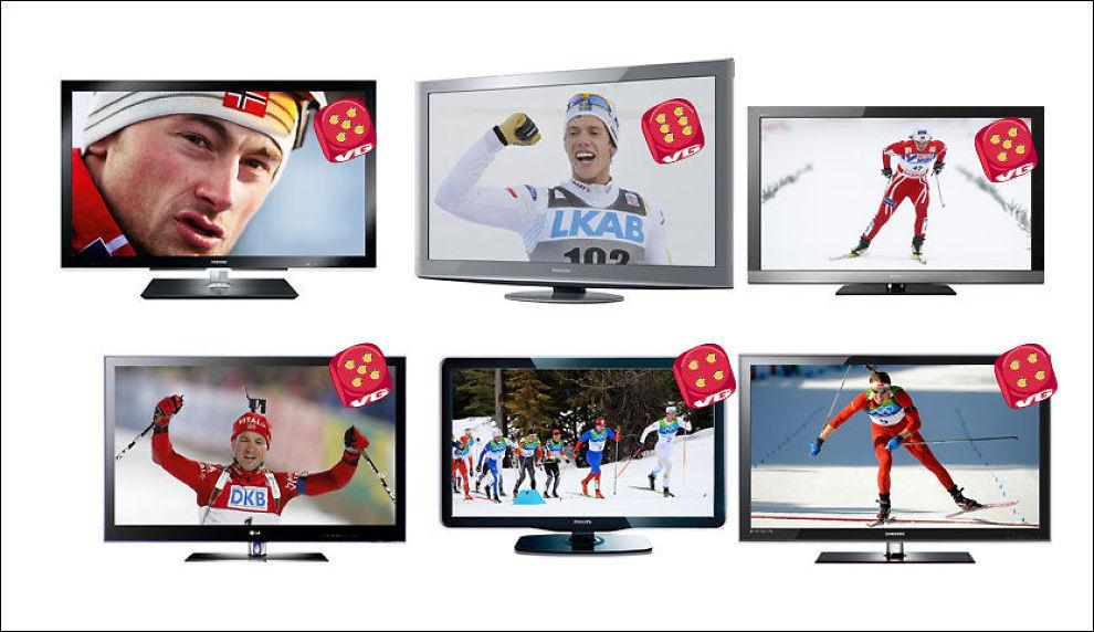 Prisene på store flatskjermer har falt kraftig det siste året. Bladet Lyd og Bilde har testet seks kvalitetsskjermer. Foto: John Nordahl, Lyd og Bilde