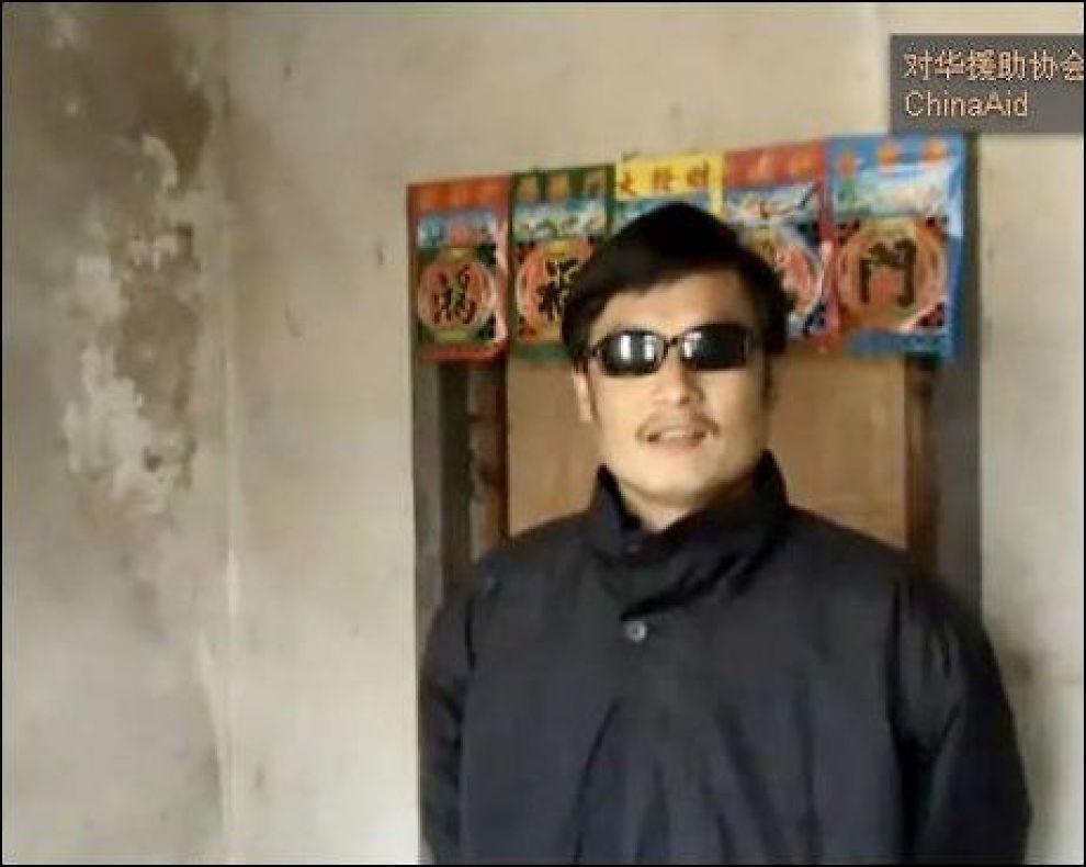I HUSARREST: Den kinesiske aktivisten Chen Guangcheng sier han har blitt svært dårlig behandlet av kineiske myndigheter. Foto: Afp